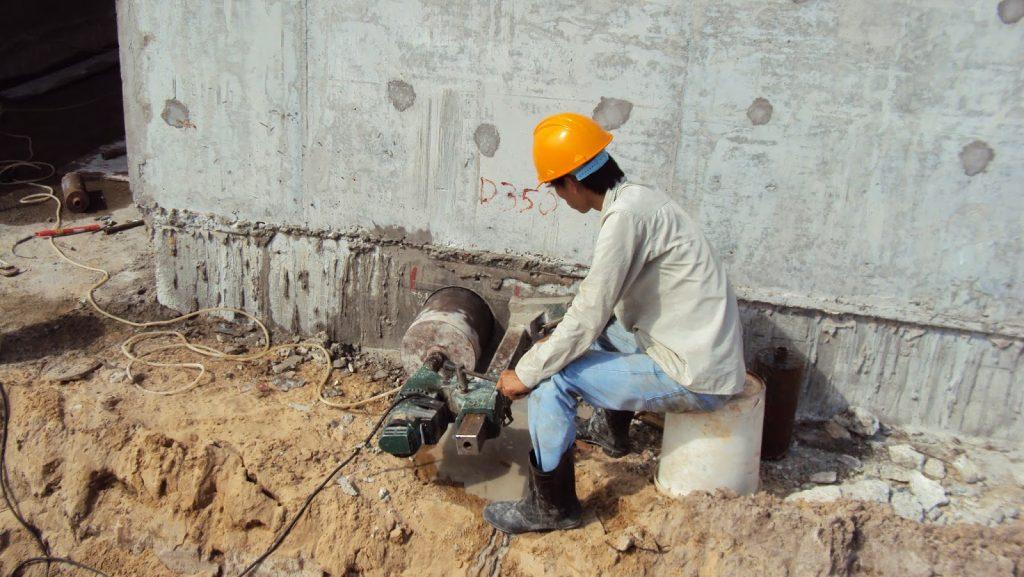 Đục phá bê tông quận Bình Thạnh, khoan rút lõi bê tông, khoan rut loi be tong